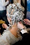 Het kapsel van de vrouw. Stock Fotografie