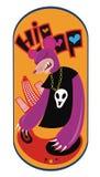 Het karakter DJ van het monster vector illustratie