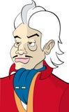 Het karakter maffia-kerel van het beeldverhaal Stock Foto