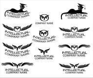 Het karakter - met uilen en katten wordt geplaatst die Stock Fotografie