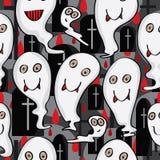 Het Karakter Naadloze Pattern_eps van het spook Royalty-vrije Stock Afbeelding