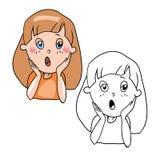 Het karakter van het beeldverhaal vector illustratie
