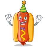Het Karakter van clownhot dog cartoon Royalty-vrije Stock Fotografie