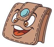Het karakter van de geldbeurs Stock Afbeelding