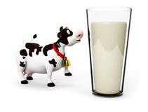 Het karakter van de koe Stock Foto's