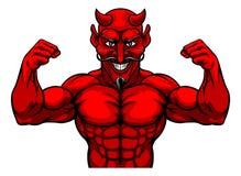Het Karakter van het de Mascottebeeldverhaal van duivelssporten stock illustratie