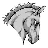 Het karakter van de paardmascotte Stock Afbeelding