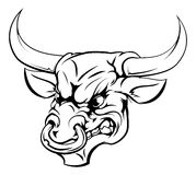 Het karakter van de stierenmascotte Stock Afbeeldingen