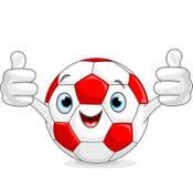 Het karakter van de voetbalvoetbal Royalty-vrije Stock Foto