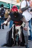 Het karakter van de zombie undead Stock Fotografie