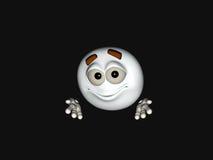 Het karakter van het beeldverhaal emoticon Stock Fotografie
