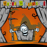 Het karakter van het Beeldverhaal van Halloween Royalty-vrije Illustratie