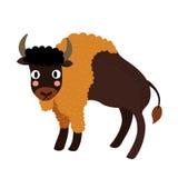 Het karakter van het bizonbeeldverhaal Stock Fotografie