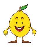 Het karakter van het citroenbeeldverhaal Royalty-vrije Stock Afbeeldingen