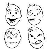 Het karakter van het gevoel Stock Foto's