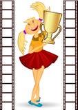 Het karakter van het heldenmeisje winer Royalty-vrije Stock Afbeeldingen