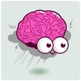 Het karakter van het hersenenonweer Stock Foto