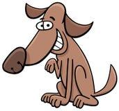 Het karakter van het hondbeeldverhaal Stock Afbeelding