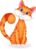 Het karakter van het kattenbeeldverhaal Stock Afbeeldingen