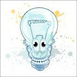 Het karakter van het lampbeeldverhaal Stock Foto