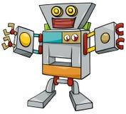 Het karakter van het robotbeeldverhaal Royalty-vrije Stock Foto