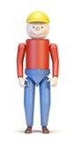 Het karakter van het stuk speelgoed Stock Fotografie