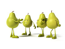 Het karakter van het voedsel - peer Stock Foto's