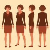 Het karakter van het vrouwenbeeldverhaal Royalty-vrije Stock Afbeelding