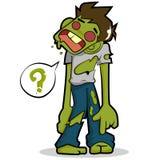 Het karakter van het zombiebeeldverhaal Stock Foto's