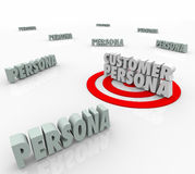Het Karakter van Persona van de klantenkoper wil Behoeften Op de markt brengend Verhaal vector illustratie