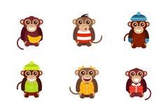Het karakter vectorillustratie van de aap dierlijke pret royalty-vrije illustratie