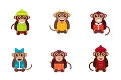 Het karakter vectorillustratie van de aap dierlijke pret stock illustratie