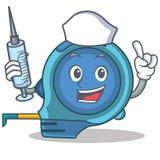 Het karakterbeeldverhaal van het verpleegstersmeetlint royalty-vrije illustratie