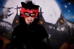 Het karakterkat van Halloween stock fotografie