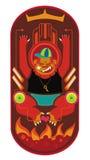 Het karakterpatroon van de orang-oetan royalty-vrije illustratie
