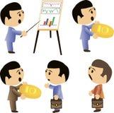 Het karaktervector van het bedrijfsmensenbeeldverhaal Vector Illustratie