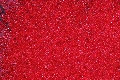 Het karmozijnrood-rode glas parelt achtergrond - de textuur van close-upparels Royalty-vrije Stock Fotografie