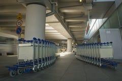 Het karretje van de bagage Stock Afbeeldingen