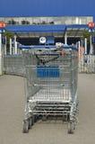 Het karretje van de supermarkt Royalty-vrije Stock Foto's