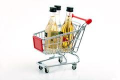 Het karretje van de wijn Stock Afbeelding