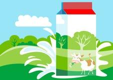 Het Karton van de melk stock illustratie