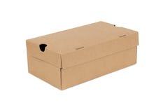 Het kartoncontainer van de kartondoos Stock Foto