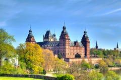 """Het kasteel """"Johannisburg"""" in Aschaffenburg Stock Afbeeldingen"""