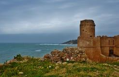 Het Kasteel Aragonese Stock Foto's