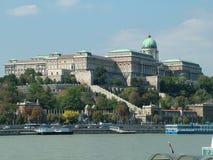 Het kasteel in Boedapest in Hongarije stock afbeelding