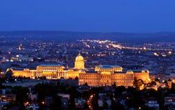 Het Kasteel Boedapest Hongarije van Buda Stock Afbeeldingen