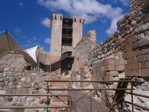 Het Kasteel Bosa ( IL Castello Malaspina) , Sardinige, Italië Royalty-vrije Stock Foto