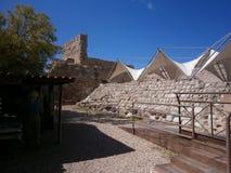 Het Kasteel Bosa ( IL Castello Malaspina) , Sardinige, Italië Stock Foto