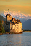 Het kasteel Chillon in Montreux (Vaud), Zwitserland Royalty-vrije Stock Foto