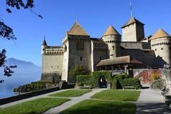 Het kasteel Chillon in Montreux, Zwitserland Stock Afbeelding
